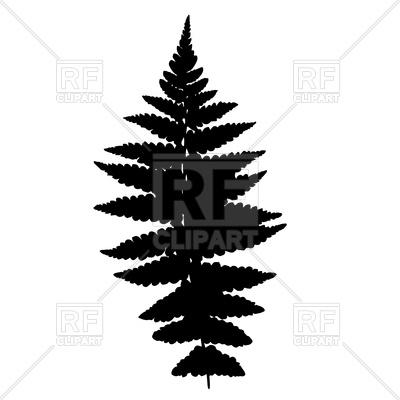 400x400 Fern Leaf Silhouette Royalty Free Vector Clip Art Image