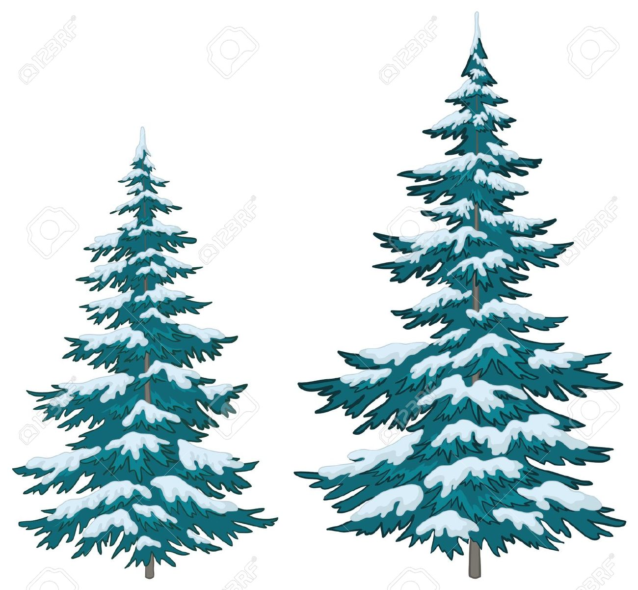 1300x1201 Snow Covered Branches Clipart