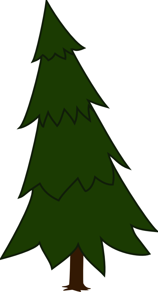 555x1022 Tree Silhouette Clip Art