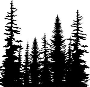 300x293 Pine Trees Cover A Card Impression Obsession 5.75 X 5.75