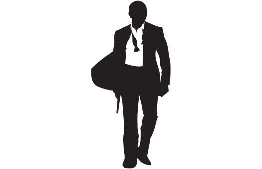 525x340 Cutout International Spy Silhouette, Modern James Bond 007 Prom
