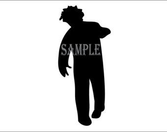 340x270 Female Spy Silhouette Printable 3 Sizes 5 Files Girl Detective