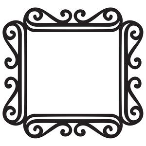 300x300 Fancy Square Frame Silhouette Design, Silhouettes And Fancy