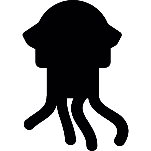 626x626 Squid Silhouette Icons Free Download