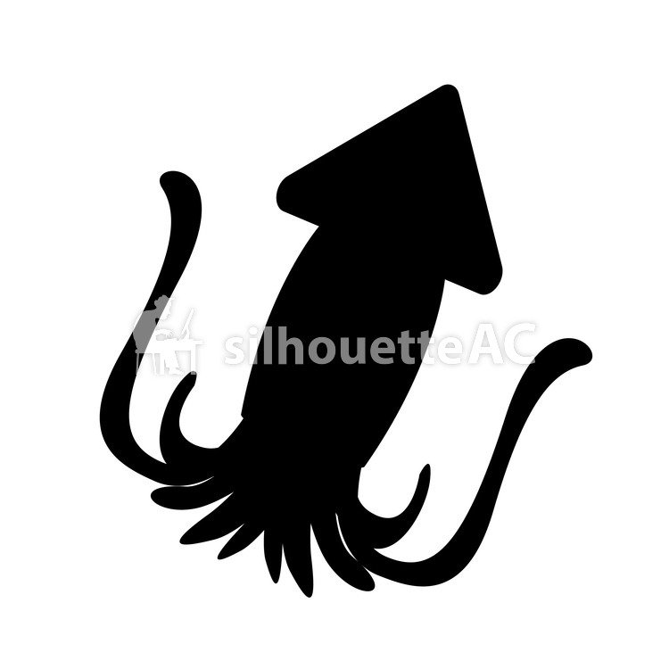 750x750 Free Silhouette Vector 10 Legs, The Squid