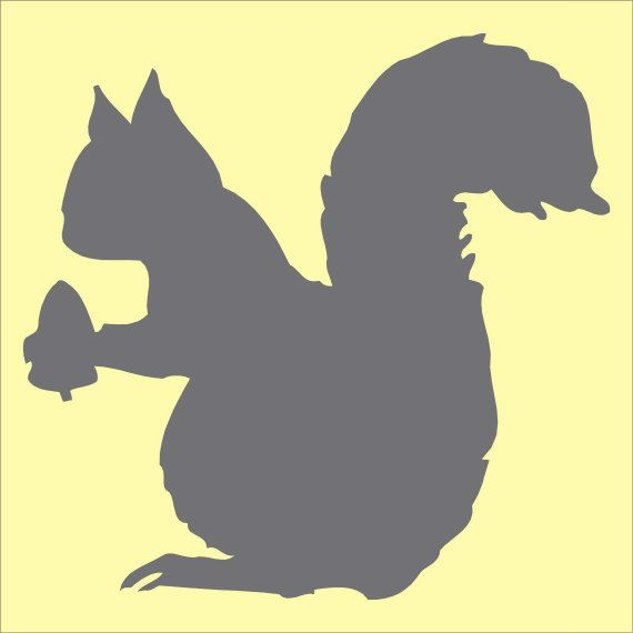 570x570 Squirrel With Acorn Stencil