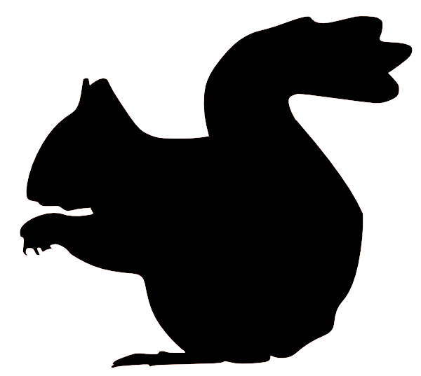 600x537 Squirrel Silhouette Clip Art