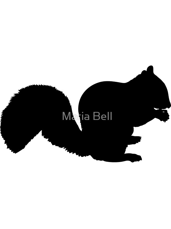 600x800 Squirrel Silhouette Stickers By Maria Bell Redbubble