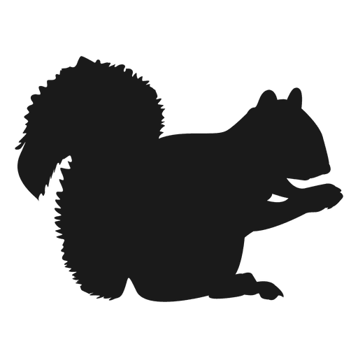 512x512 Squirrel Silhouette