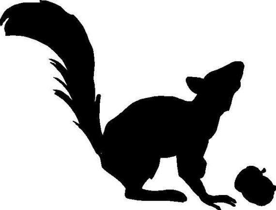 570x433 Squirrel Silhouette Clipart Panda