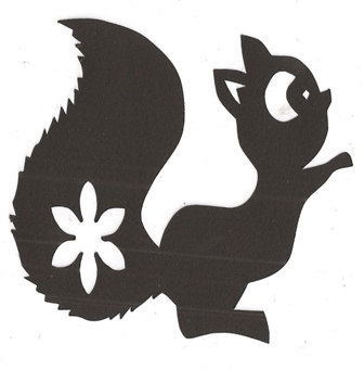 336x341 Cute Squirrel Silhouette Clipart Panda