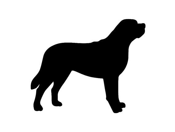 570x428 Saint Bernard Dog Breed Silhouette Custom Die Cut Vinyl Decal