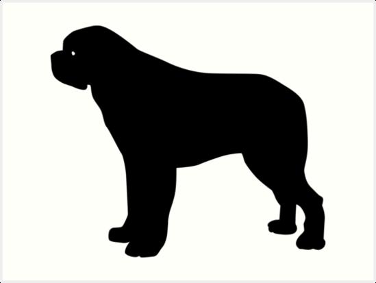 549x413 Saint Bernard Dog Silhouette Art Prints By Idrawsilhouettes
