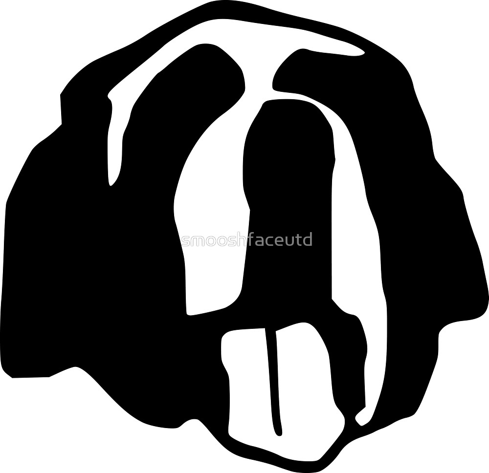 1000x968 Saint Bernard Or Newfoundland Face Silhouette