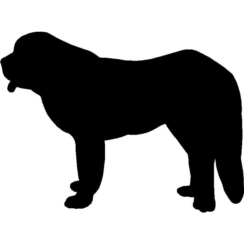 800x800 Dog Breed Silhouette Wall Hanging Magnetic Memo Saint Bernard