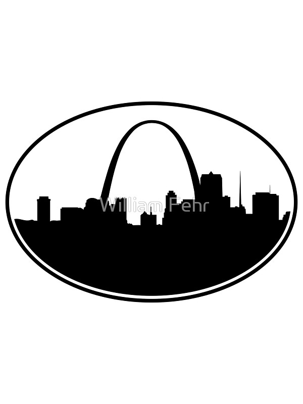 600x800 Oval St. Louis Silhouette Stickers By William Fehr Redbubble