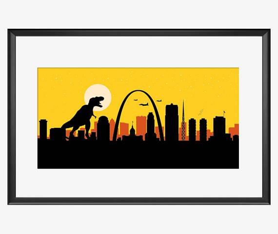 570x480 St Louis Skyline St Louis Art St Louis Print St Louis