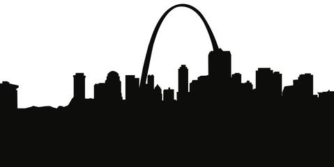 479x240 St. Louis Missouri Skyline Silhouette Cityscape Purses And Pillows