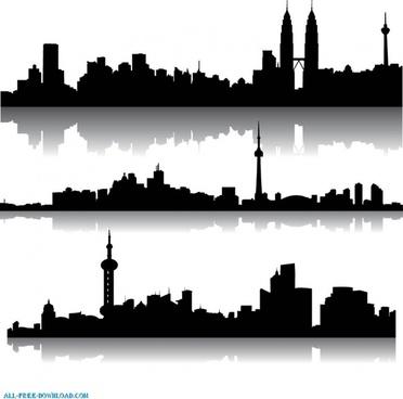 372x368 Suburban Skyline Free Vector Download (116 Free Vector)