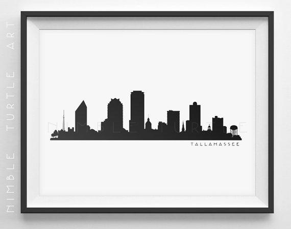 570x450 Tallahassee Skyline Silhouette Printable Skyline
