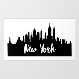 264x264 City Silhouette Art Prints Society6