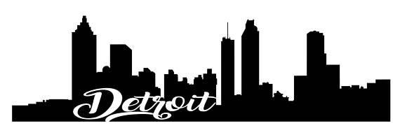 570x193 Detroit Skyline Cricut Silhouette Design