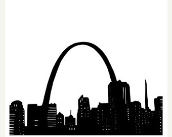 St Louis Skyline Drawing