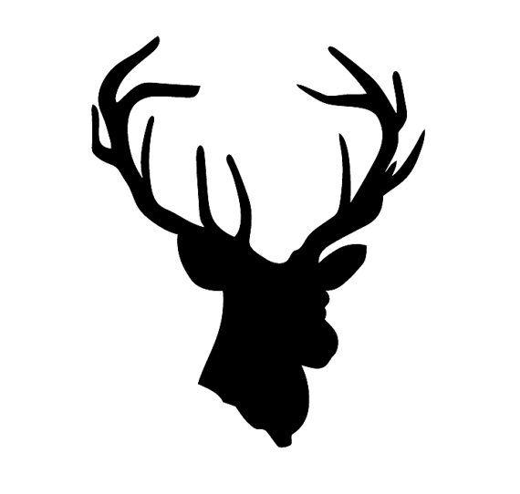 570x542 Deer Head Decal Choose Size Amp Color Deer Head By Graphixpress