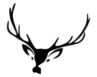 340x270 Deer Head Svg And Dxf, Png File
