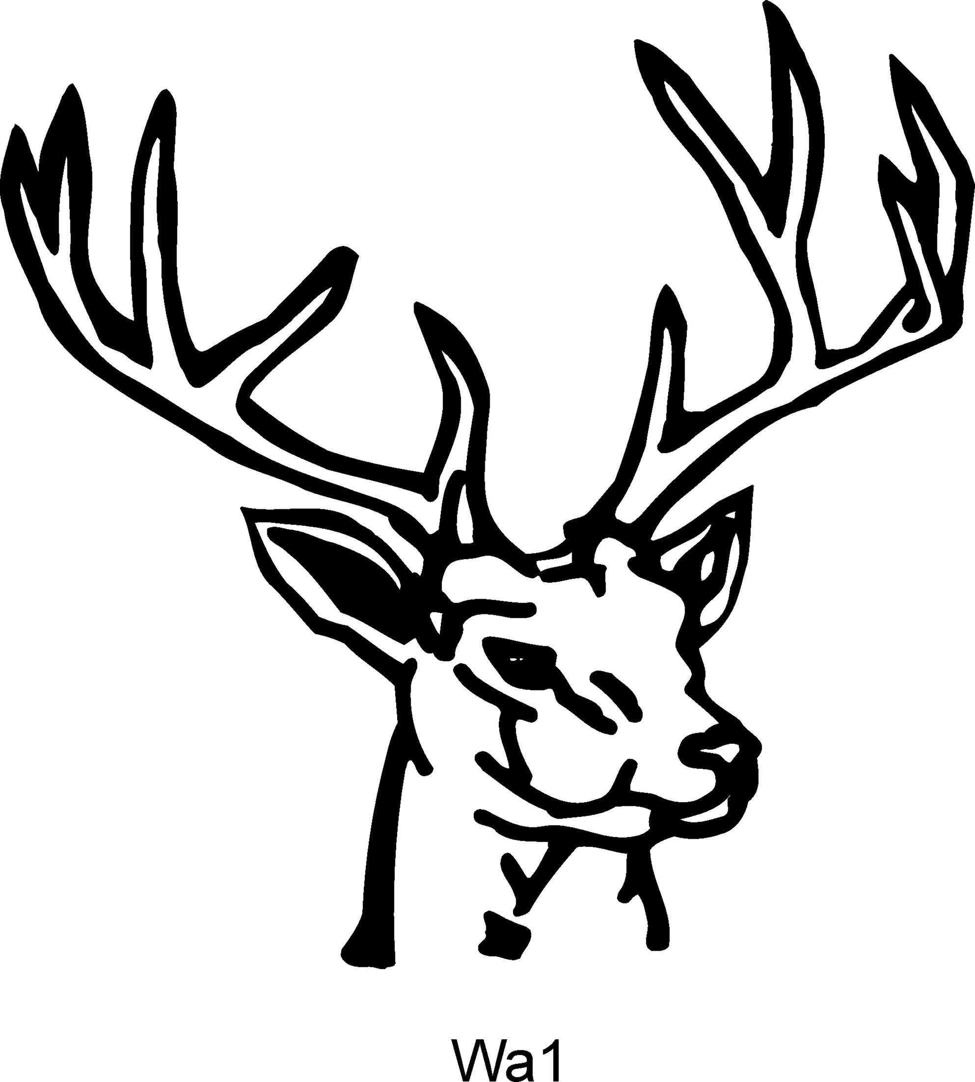 1986x2204 Stag Drawing Outline