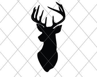340x270 Deer Head Vector Etsy