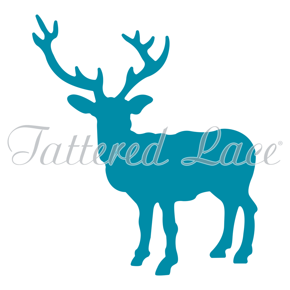 1000x1000 Stag Silhouette (Qftl312) Tattered Lace