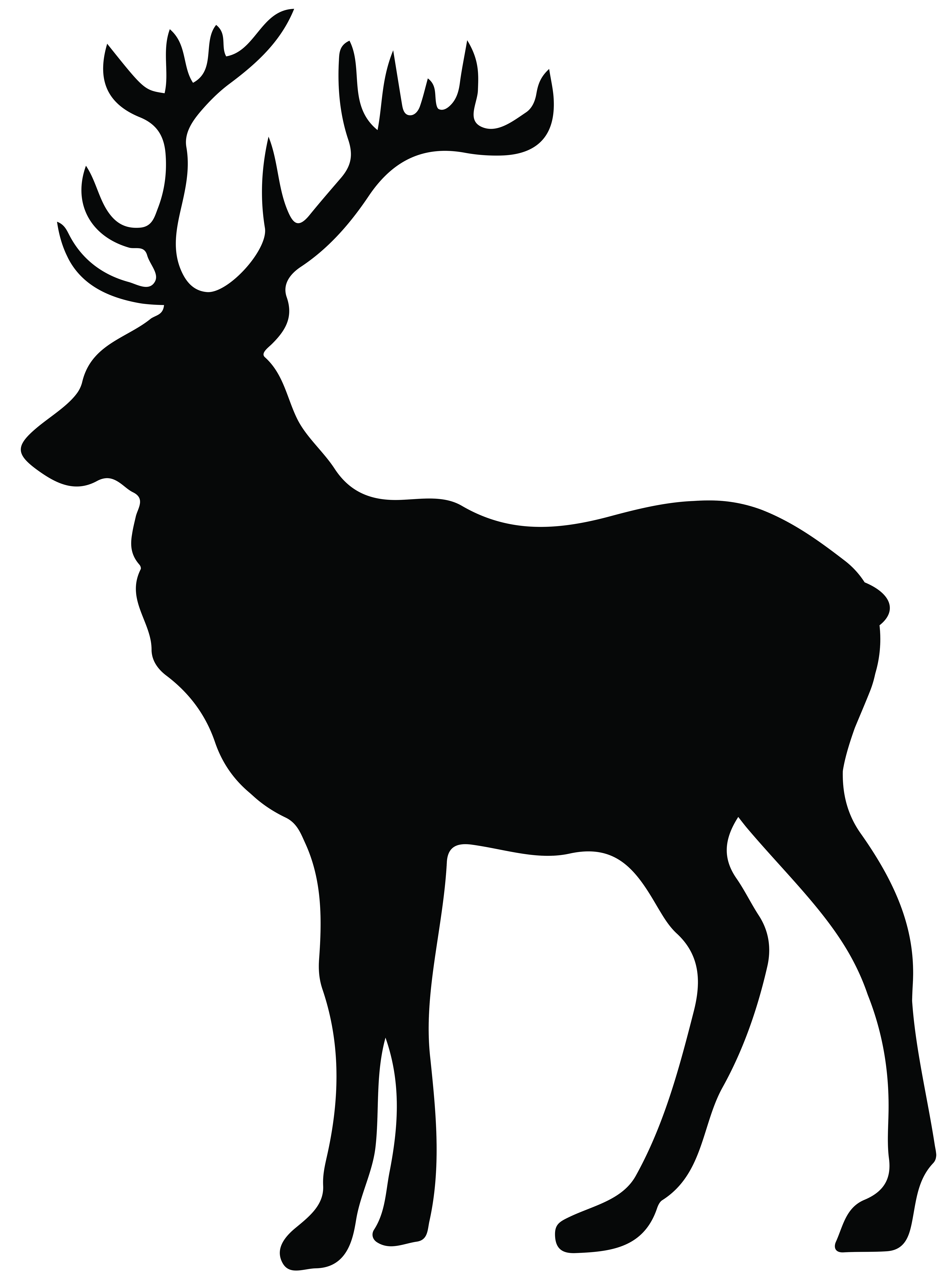 5953x8000 Stag Silhouette Png Transparent Clip Art Imageu200b Gallery