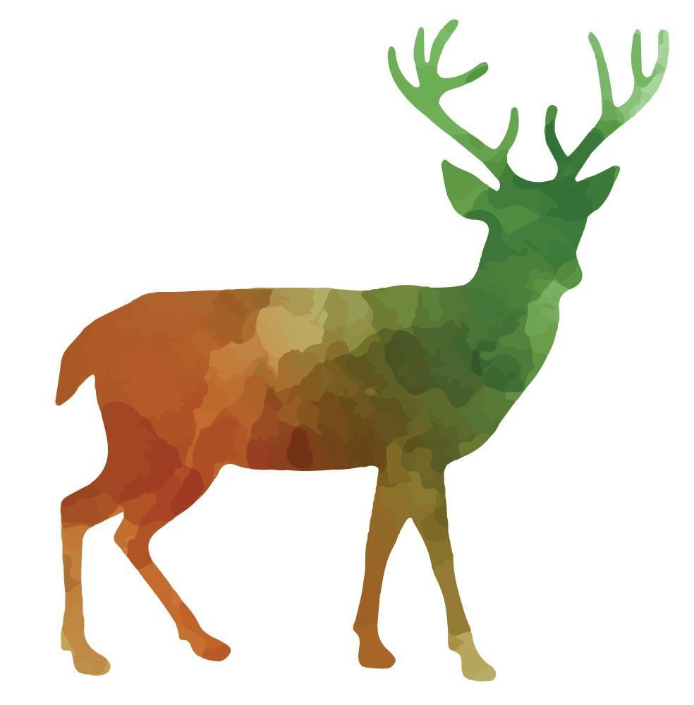 984x1000 Colorful Stag Silhouette Wall Decal Canvas Art Rocks