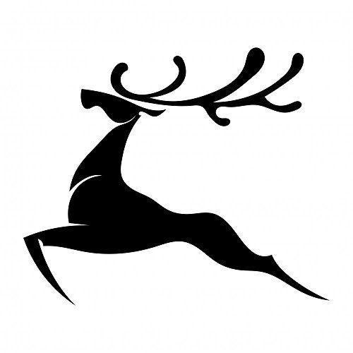 500x500 Wallmonkeys Wm151314 The Black Silhouette Of A Deer Jumpi Https