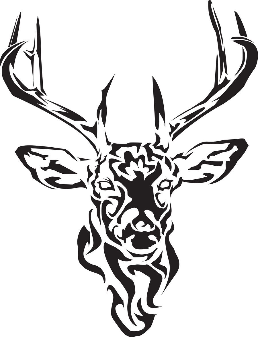 900x1178 Black Tribal Deer Tattoo Design Deer Celtic Tribal