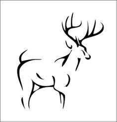 236x246 Buffalo Head Stencil. Think It Would Make A Cute Tattoo. Tattoos