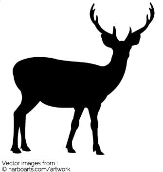 335x355 Download Stag Silhouette