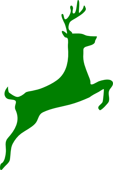 396x595 Leaping Stag Clip Art