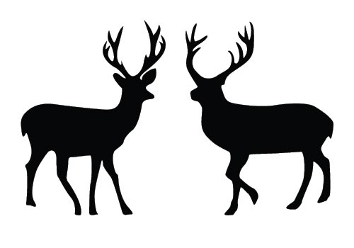 500x350 Two deers added to this free Deer Silhouette Vector best suits for