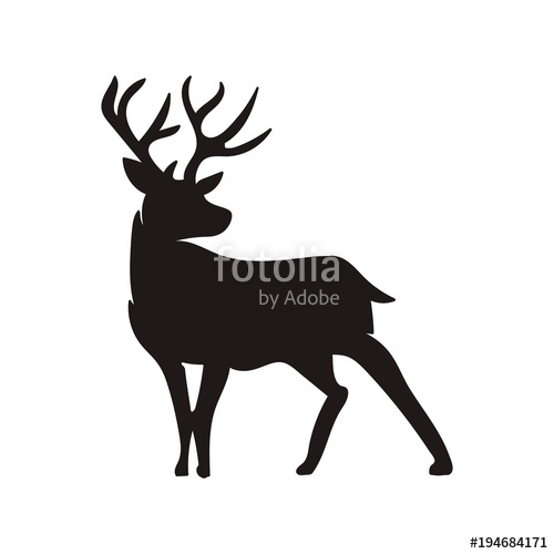500x500 deer silhouette vector Stock image and royalty free vector files
