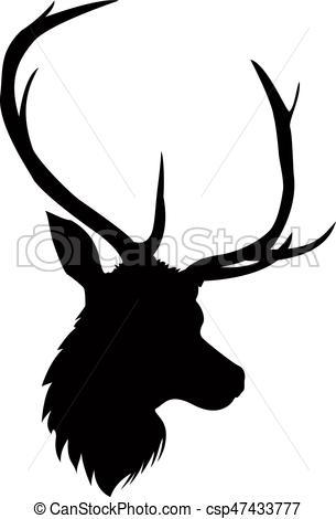 305x470 Deer silhouette vectors illustration