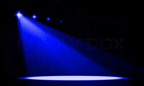 480x288 Silhouette Performance Spotlight Empty Stage