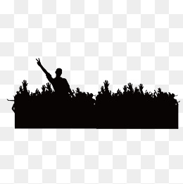 260x261 Crowd Silhouette Png, Vectors, Psd, And Clipart For Free Download