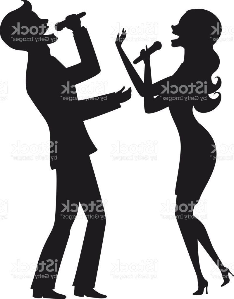 800x1024 Top 10 Elegant Couple Singing Karaoke On Stage Silhouette Vector