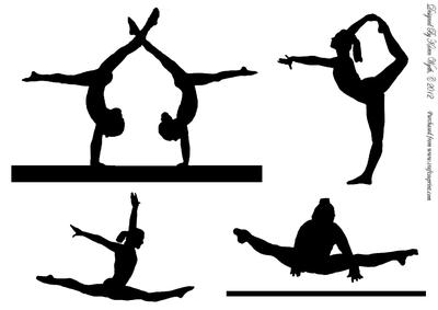 400x283 Silhouette Clipart Gymnast