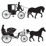 160x160 Stagecoach Silhouettes Wall Sticker Wall Stickers