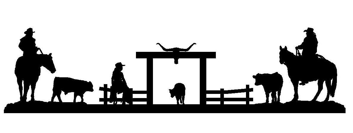1184x449 Western Burning Westerns, Silhouette And Cricut
