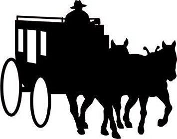 355x280 Cowboy And Stagecoach Decal