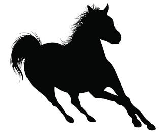 320x275 Ravelry Horse Silhouette Chart Pattern By Lea Barrick